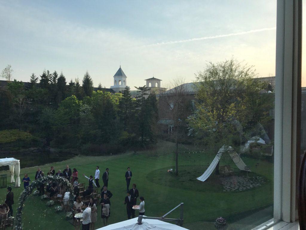 仙台ロイヤルパークホテル客室「ラグジュアリーツイン」ガーデンサイド_結婚式の風景参考