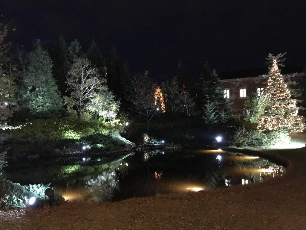 仙台ロイヤルパークホテル客室「ラグジュアリーツイン」ガーデンサイド_部屋からの眺め_ライトアップ参考