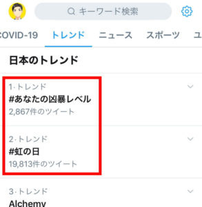 Twitterのハッシュタグ:スマホハッシュタグ検索_日本のトレンド