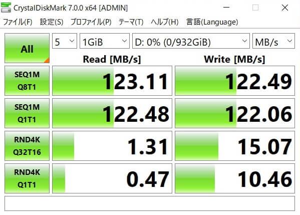 HP Pavilion 15-cs3000_HDDベンチマークソフト結果