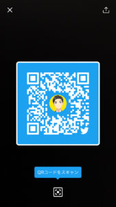 TwitterのQRコード:色変更(青)