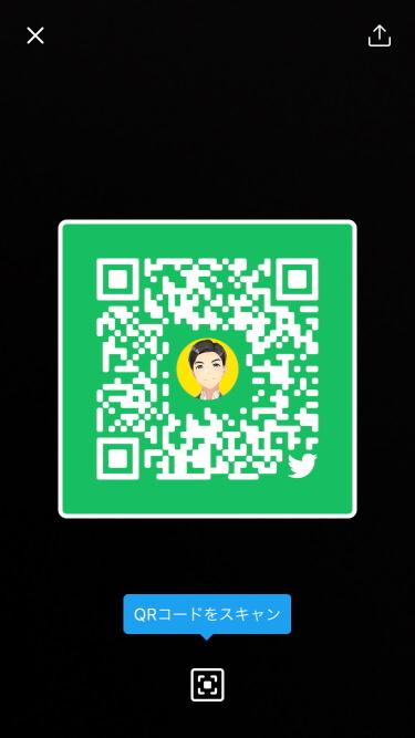 TwitterのQRコード:作成完了(緑)-2
