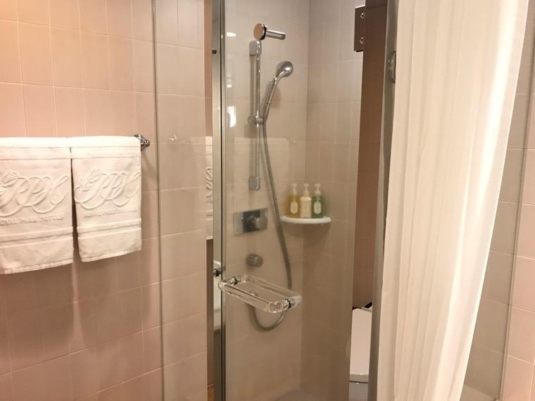 仙台ロイヤルパークホテル客室「ラグジュアリーツイン」ガーデンサイド_バスルーム_シャワールーム1