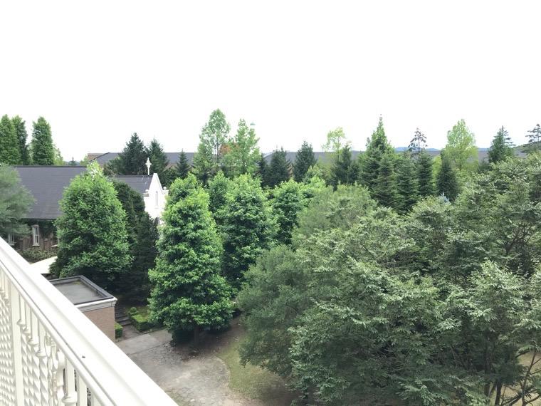 仙台ロイヤルパークホテル客室「ラグジュアリーツイン」ガーデンサイド_部屋からの眺め_庭園3