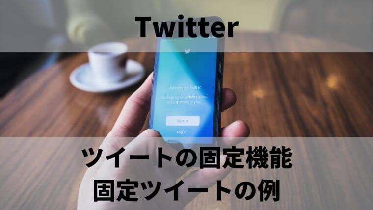 Twiiterのツイートの固定機能:固定ツイートの例