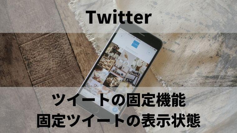 Twiiterのツイートの固定機能:固定ツイートの表示状態