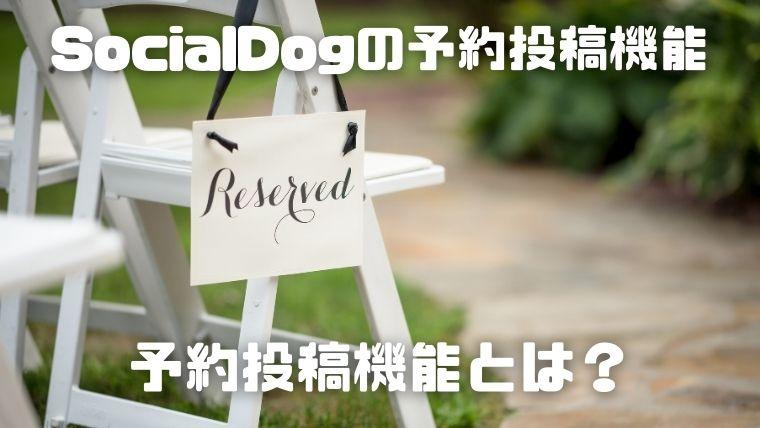 SocialDogの予約投稿_予約投稿機能とは?