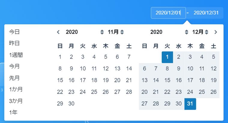 SocialDogの機能・使い方_ダッシュボード_フォロー管理概要_期間設定画面