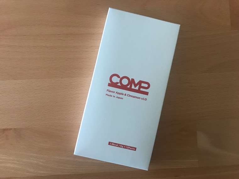 COMP Flavor(コンプフレーバー)_4つの風味_アップル&シナモン風味の外箱